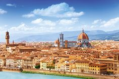 Florence's skyline and the River Arno