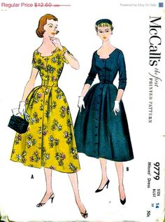 On SALE Vintage 1950's McCall's Pattern 9779  LOVELY by anne8865, $11.59