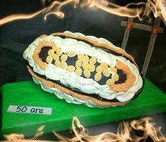 Ballon de rugby RCNM gâteau de bonbons un réel délice Narbonne