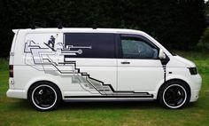 Bildergebnis für vw t5 graphics Vw Bus, Volkswagen Transporter, T4 Vw, Vw Transporter Conversions, Camper Conversion, General Motors, Land Rover Defender, Van Signage, Vw T5 Campervan