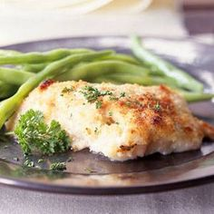 Super delish baked cod recipe for those of us trying to eat light! I also added a clove of garlic for an extra kick.