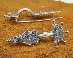 Sterling Silver FIBULA BROOCH with a PIN by WulflundJewelry