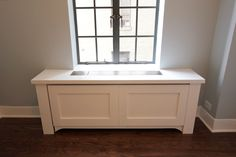 Looking for radiators, AC covers and more! Paula's design philosophy is based in elegant simplicity – for any lifestyle, any budget, and any period. White Radiator Covers, Custom Radiator, Ac Cover, Bedroom Apartment, Radiators, Built Ins, Cover Design, Contemporary, Classic