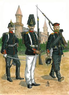 """Botsch, Walter, born in Braunsbach, Württemburg entered the Army Service in the Infantry Regiment """"König Wilhelm"""" as a Fahnenjunker Military Art, Military History, German Uniforms, Military Uniforms, Germany And Prussia, Crimean War, Imperial Army, Age Of Empires, French Army"""