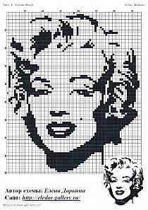 haft krzyżykowy - kobieta