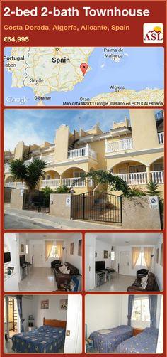 2-bed 2-bath Townhouse in Costa Dorada, Algorfa, Alicante, Spain ►€64,995 #PropertyForSaleInSpain