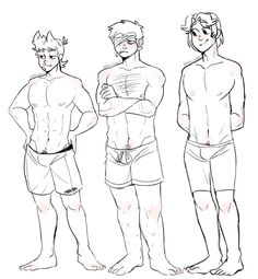different body types~ (RED ARMY) by smollereii on DeviantArt Male Pose Reference, Drawing Reference Poses, Art Reference, Drawing Sketches, Cool Drawings, Mens Body Types, Anime Style, Tomtord Comic, Eddsworld Memes