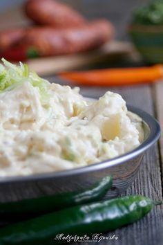 Ziemniaczana sałatka z porem - idealna do grilla Appetizer Salads, Appetizers, Side Dish Recipes, Side Dishes, Potato Salad, Mashed Potatoes, Grilling, Ethnic Recipes, Evergreen