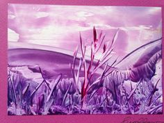Encaustic art... done with a travel iron!