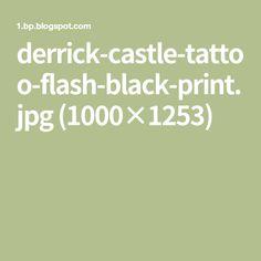 derrick-castle-tattoo-flash-black-print.jpg (1000×1253)