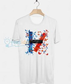 Twenty One Pilots Logo Butterfly Unisex Adult T Shirt