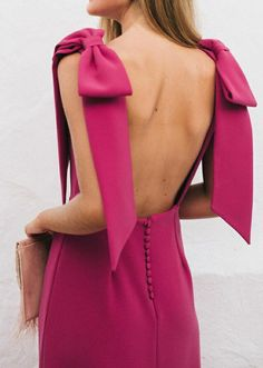 Southern Women, Raspberry Color, Peach Orange, Dress Suits, Boutique Dresses, Pink Color, What To Wear, Hot Pink, Backless