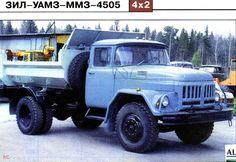 53 Вследствие прекращения производства базового шасси ЗИЛ-130 ЗиЛ 495810, с 1995 года самосвалы ЗИЛ-ММЗ-4505 выпускаются на шасси автомобилей УАМЗ с оперением, унифицированным с грузовиком ЗИЛ-131Н