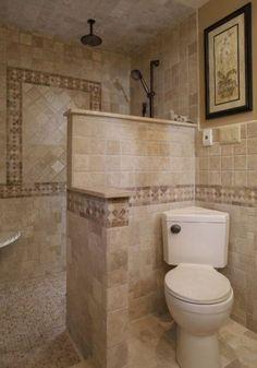 75 Beautiful Small Bathroom Shower Remodel Ideas - Page 29 of 76 Beautiful Small Bathrooms, Small Bathroom With Shower, Bathroom Showers, Small Master Bathroom Ideas, Guys Bathroom, Warm Bathroom, Bathroom Black, Ikea Bathroom, Vanity Bathroom