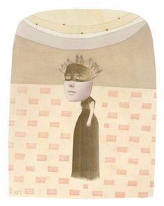 "Saatchi Art Artist Athena Petra Tasiopoulos; Collage, ""Black Lace"" #art"