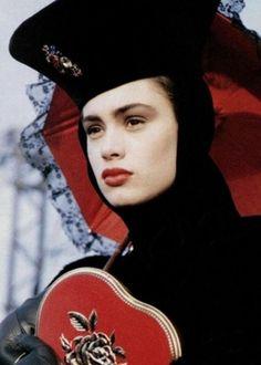 clintcatalyst:    Celia Forner, servingHaute Goth:circa '87