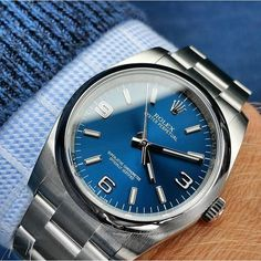 In love with the blue dial Rolex 116000 shot by @loevhagen with his Samsung Note 4 mobile