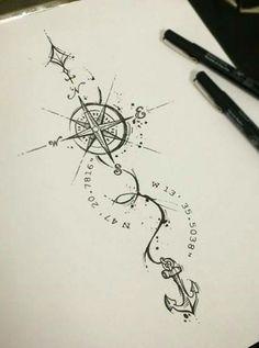 Tattoo frauen handgelenk anker 48 Ideas for 2019 - Tattoos - Tatoo Ideen Trendy Tattoos, Sexy Tattoos, Cute Tattoos, Body Art Tattoos, Hand Tattoos, Tattoos For Guys, Tatoos, Tatoo Compass, Compass Tattoo Design