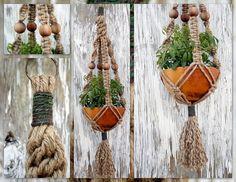 Forest Wood Handmade Natural Jute Macrame Plant Hanger by Macramaking- Natural Macrame Plant Hangers, via Flickr