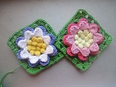 Цветок в квадрате Flower in a square Crochet - YouTube ♡
