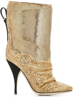 Shop online metallic Marco De Vincenzo metal embellished boots as well as new season, new arrivals daily. Phenomenal luxury selection, get it now with quick Global Shipping or Click & Collect orders. Bootie Boots, Shoe Boots, Ankle Boots, Boot Heels, Shoes Heels, Stiletto Heels, High Heels, Gold Boots, Gold Outfit