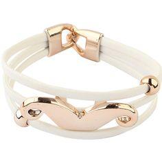 Fashion Brand Fluorescent Mustache Bracelets ($5.99) ❤ liked on Polyvore