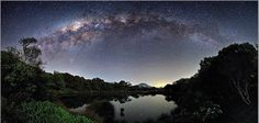 The Milky Way view from the Piton de l'eau / Reunion Island