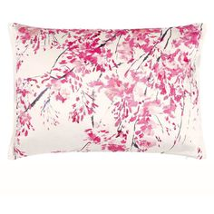 Designers Guild Plum Blossom Fuchsia Cushion (205 CAD) ❤ liked on Polyvore featuring home, home decor, throw pillows, fuschia home decor, fuchsia throw pillow, embroidered throw pillows, spring home decor and flower throw pillow