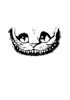 Drawing based on the Cheshire Cat from Tim Burton's Alice in Wonderland. The Cheshire Cat Film Alice In Wonderland, Alice In Wonderland Drawings, Adventures In Wonderland, Cheshire Cat Drawing, Cheshire Cat Smile, Tribal Sun, Tim Burton Art, Pumpkin Carving Patterns, Wonderland Tattoo