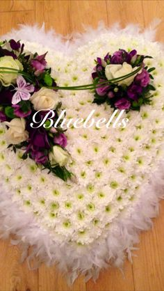 Large heart funeral flowers