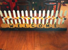 An Autumn craft I made for my fireplace mantel.