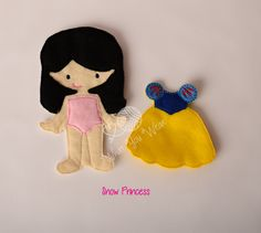 Snow princess felt paper doll, pretend play, quiet play, imaginary play, travel toy, felt non paper doll, by LucyandLyla on Etsy