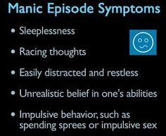 Bipolar Disorder - Manic Episode Symptoms