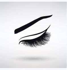 Icon female long eyelashes vector Long Eyelashes, Make Eyelashes Grow, Beautiful Eyelashes, Vector Graphics, Vector Art, Makeup Wallpapers, Eyes, Logos, Female