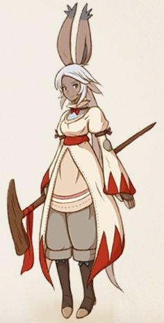 A White Mage from FF Tactics: A2.  I absolutely love all the drawn art in this game, this sort of thing's all over it and it's a great style for the game.
