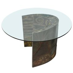 Studio-Made Pedestal Table by Paul Evans | From a unique collection of antique and modern dining room tables at https://www.1stdibs.com/furniture/tables/dining-room-tables/