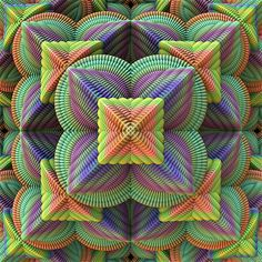 3D fractal image created by Lyle Hatch - for sale on Fine Art America
