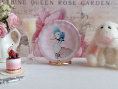 Jemima Puddle-Duck plate for the dollhouse nursery
