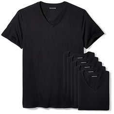 227251c5186e Amazon Essentials Men s 6-Pack V-Neck Undershirts