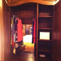 1. Carve out the back of an ordinary wardrobe, place it in front of the entrance to a room, and you have the passage to Narnia!-21 DIY Ways To Make Your Child's Bedroom Magical-If they have a playroom right off their bedroom this is golden!