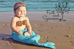 Mermaid Tail and top set for toddlers crochet