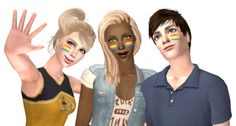 THIS IS FOR SIMS 2! This is categorized in face paint. It is for all ages, I believe. It only comes in the one color scheme. For right, left, or both cheeks. DOWNLOAD Credits: @faeriesimss for original. (There's others if someone else wants to...