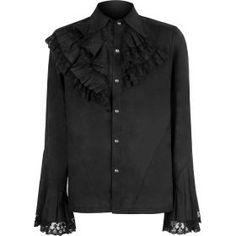 Gothic button-down shirt