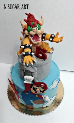 Mario Kart Bowser Birthday Cake Cakes Made By Me Pinterest - Bowser birthday cake