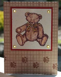 Fun Frilled Eyelet Bear by subaruprincess - Cards and Paper Crafts at Splitcoaststampers