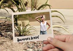 YAYA SS'16 | P FOR PALMPRINT | POLAROID SUMMER LOVIN #YAYASS16 #Quote #Pforpalmprint #Summer #Lovin #Photoinphoto #Polaroid #Campaign