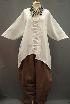 La Bass~Just in~ Linen~ TAUPE ~Ever popular~Tulip Trousers ~Size 1 (10-16)                            | Add to Watch list
