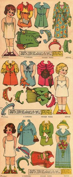 vintage paper dolls to print & cut out