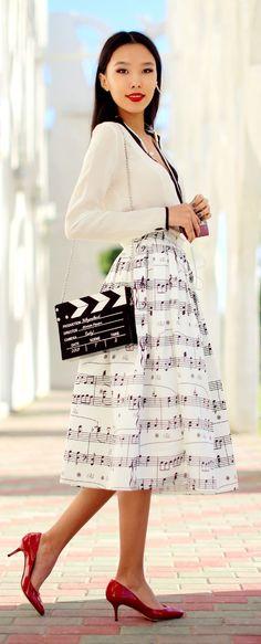 Music Inspiration Skirt Styling