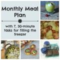 March Meal Plan with recipe ideas for the entire month and 7, 30-minute tasks for filling the freezer #mealplan #menu #recipes #freezercooking